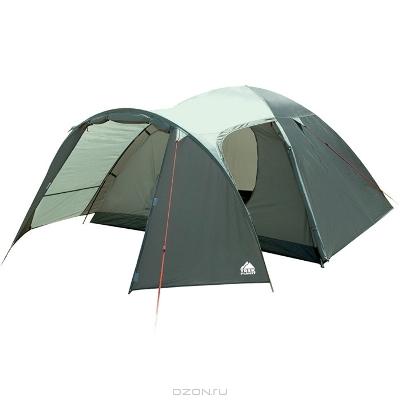 """Палатка Trek Planet """"Cuzco 4"""", цвет: темно-зеленый, оливковый"""